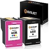 2 PK Novajet Black Color for HP 65XL (1*Black & 1*Tricolor) Ink Cartridges HP Deskjet 2625 2652 2655 3720 3721 3722 3723 3730