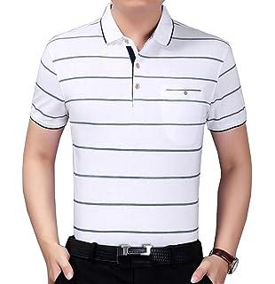 Kurzarm-T-Shirt Männer gestreiften Mode-Top-Sommer mittleren Alters Männer  Baumwolle 3b11e7edc1