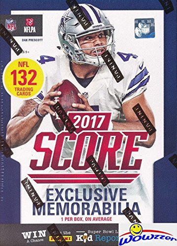 Watson Auto - 2017 Score NFL Football HUGE Factory Sealed Retail Box with 132 Cards & SPECIAL MEMORABILIA Card! Includes 20+ INSERTS & 30+ RCS! Look for RC & Autos of Patrick Mahomes, Deshaun Watson & More! WOWZZER