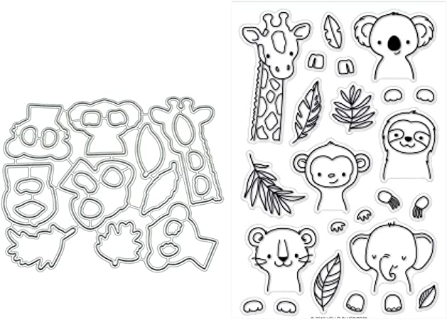 Thobu Clear Stamps for Scrapbooking and Card Making-Flower DIY Cutting Dies Stencil DIY Scrapbooking Embossing Paper Card Decor New