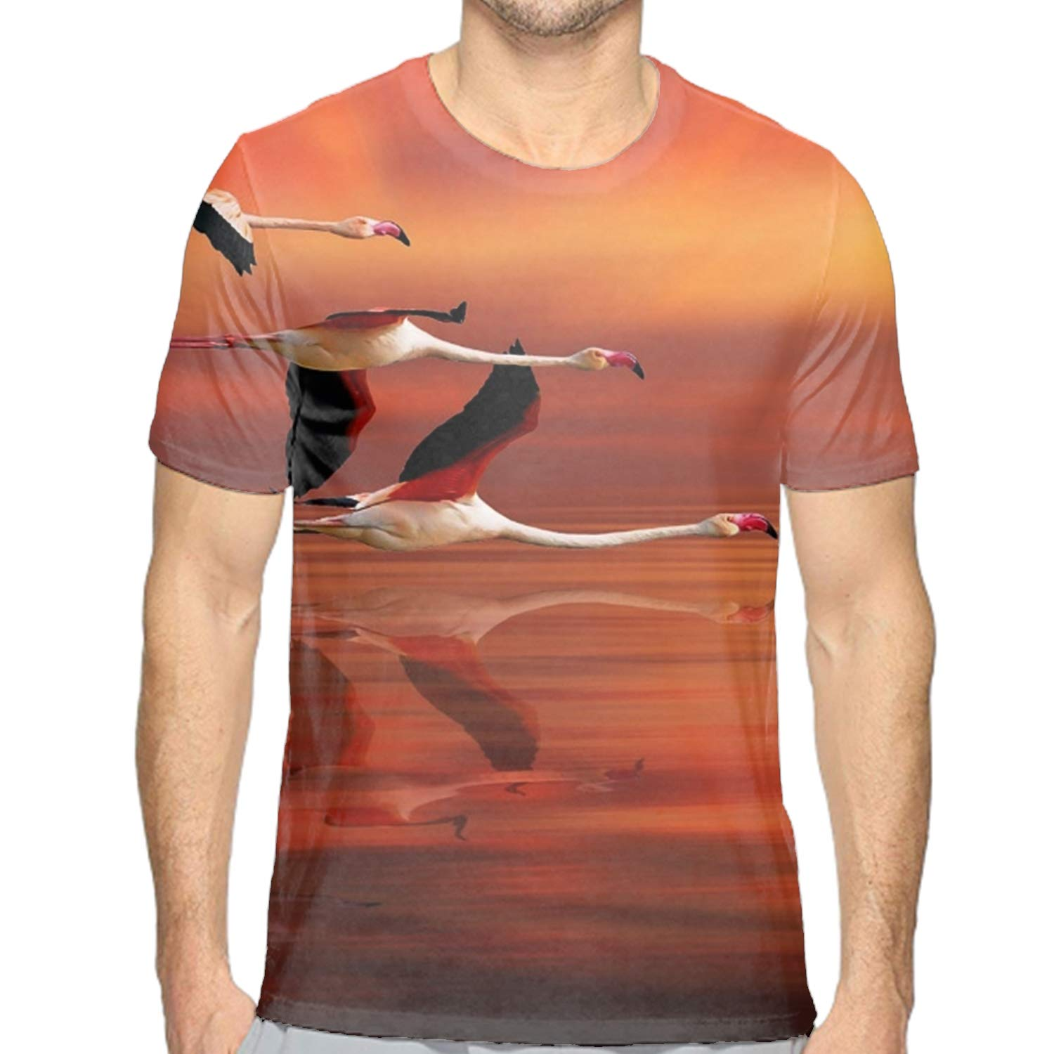 Short Sleeve T-Shirts Eagle in Winter Casual Graphics Tees