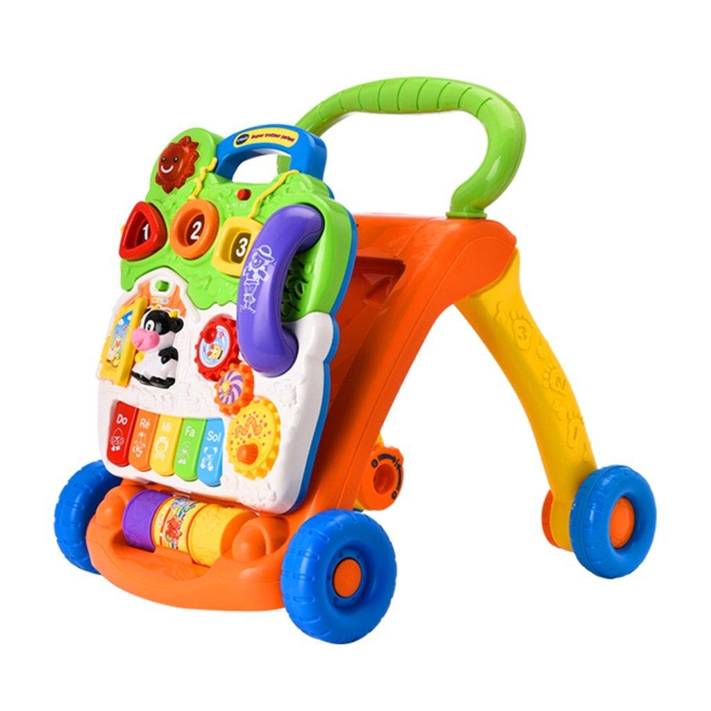 HAIZHEN マウンテンバイク プラスチック製の子供玩具トロリー幼児の速度規制プッシュプルベビーウォーカー 新生児   B07DMNPZBH