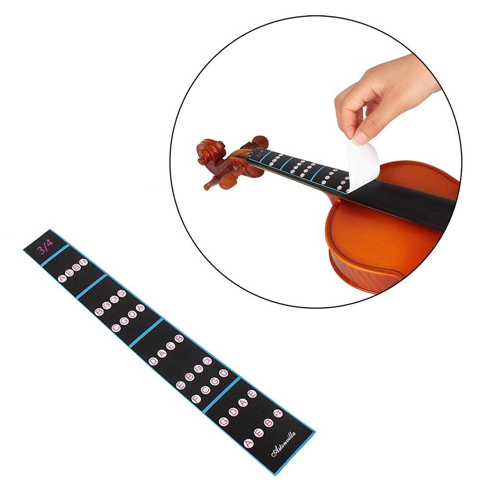 ammoon 4//4 Violin Fiddle Finger Guide Fingerboard Sticker Label Intonation Chart Fretboard Marker for Practice Beginners