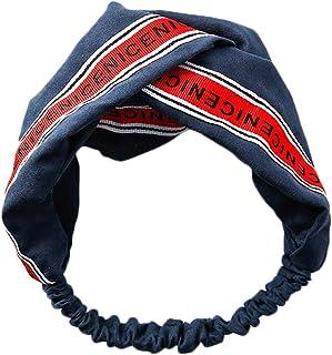 CAOLATOR Bandeau croisé en Tissu à Larges Bords Headbands Vintage élastique imprimé tête enveloppe Extensible humidité Hairband Twisted Cute Hair Accessoires C
