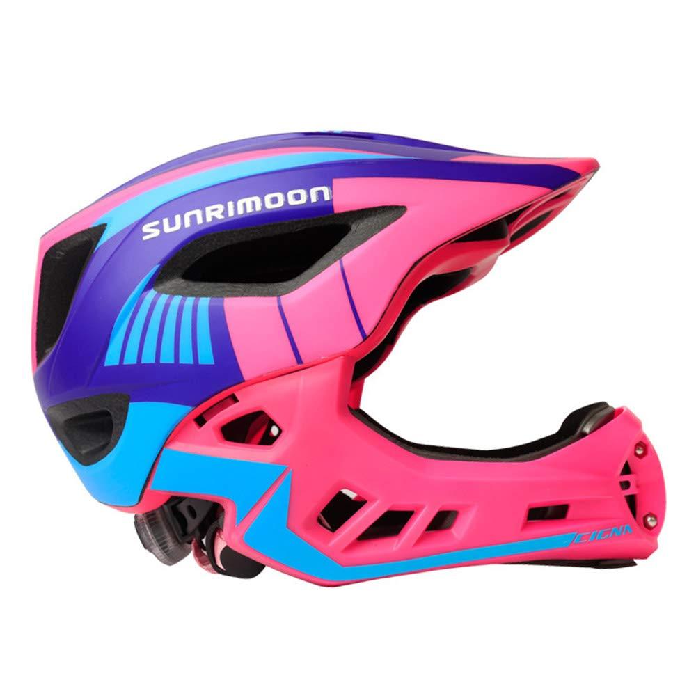 JL-Q Kinderhelm-Balance Auto-Helm Gleit Schritt Mit Voller Helm-Schutzausrüstung Einteiliges Kinderhelm (Geeignet Für Kopfumfang 50-58Cm),B A