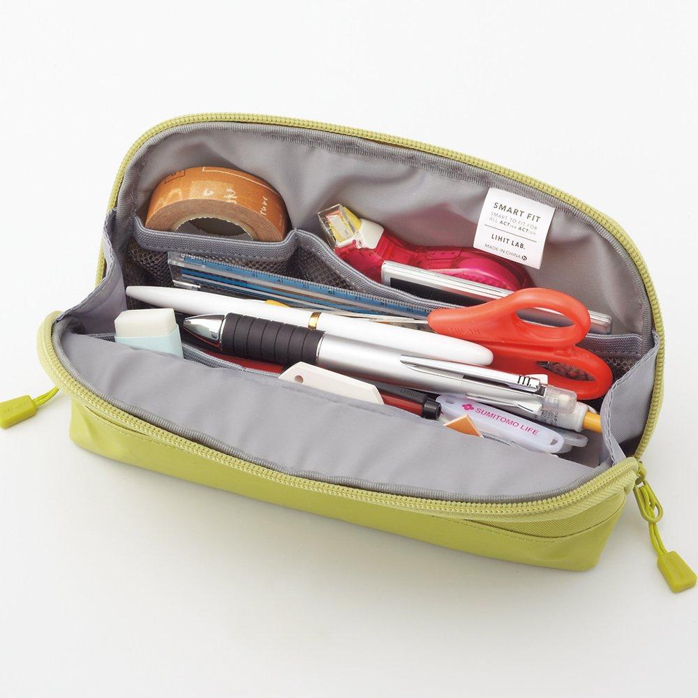 Lihit Lab Estuche para lápices marino, (A7688-11), color azul marino, lápices 20,3 x 10,16 cm, color Rojo 3721b0