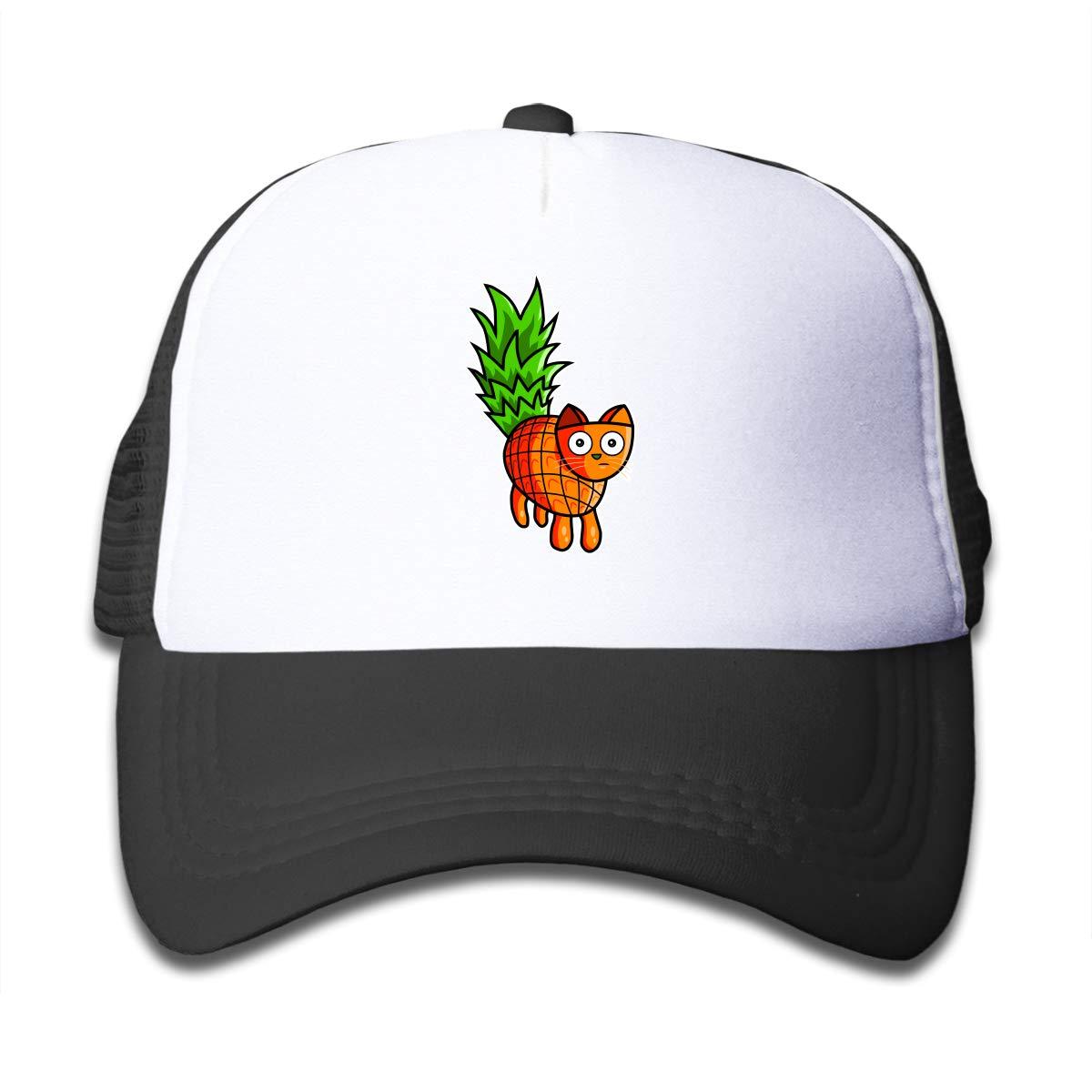 Pineapple Cat Children Baseball Cap Hats Black