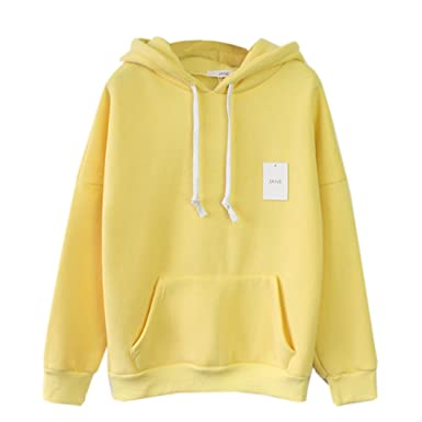 2a9d9d04 Womens Cute Harajuku Pastel Yellow Banana Hoodies Sweatshirts ... at ...