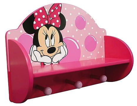 Scrivania In Legno Minnie Mouse : Fun house disney minnie mensola appendiabiti in legno: amazon.it