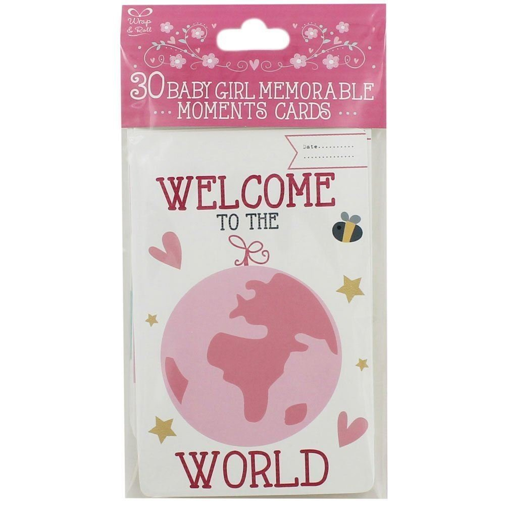 30 Baby Girl Memorable Moments Cards Eurowrap