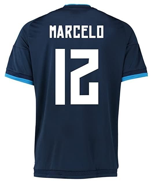 timeless design 95962 e353a Amazon.com: Marcelo #12 Real Madrid Third Soccer Jersey 2015 ...