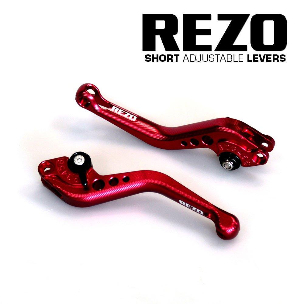 Rezo rez-setv2 –  0-red-0035 V2 corto regolabile leve moto CNC per Kawasaki Z750 2007 –  2012, rosso China REZ-SETV2-0-RED-0035