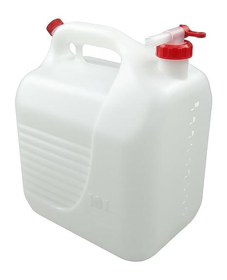TAYG - Bidón de plástico con grifo, 10 litros