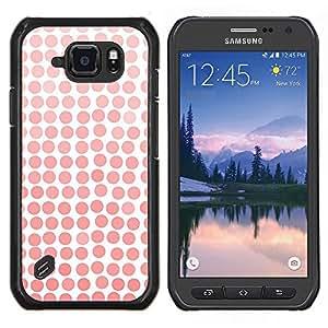 Stuss Case / Funda Carcasa protectora - Patrón Girly blanca de la acuarela - Samsung Galaxy S6 Active G890A