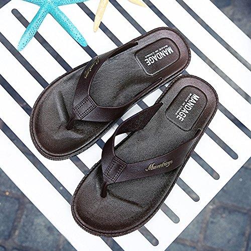 Xing Lin Sandalias De Hombre Verano Hombre Playa Personalidad Zapata Zapata Pellizco Pizca Zapatos Marea Masculina Verano Fresco Y Antideslizante Zapatilla Hombre Código Grande brown