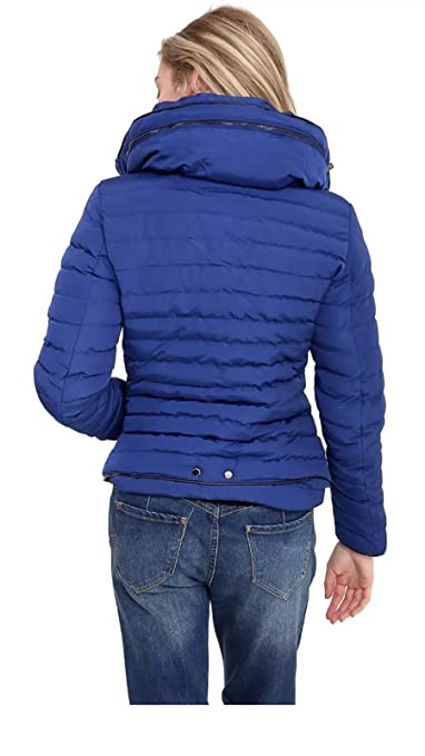 ZOONAG Zara - Abrigo Acolchado para Mujer y niña, con Cuello de Piel de Burbujas, cálido y Grueso: Amazon.es: Ropa y accesorios
