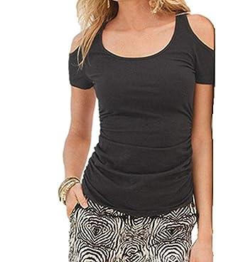 d6d6c98d19c SunflowerWomens Ladies sexy off shoulder Short Sleeve T-Shirt Tops Blouse  Tank (S