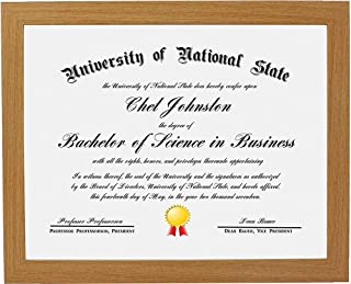 product image for Flag Connections 8.5x11 Natural Gallery Certificate and Document Frame - Package 1