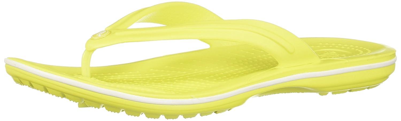 crocs Unisex-Erwachsene Crocband Flip Zehentrenner  42/43 EU|Tennis Ball Green-white (11033-38l)