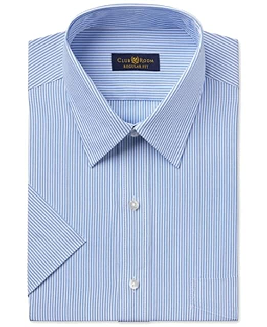15421355a8 Club Room Regular-Fit Men Striped Easy Care Dress Shirt Blue 16 at ...