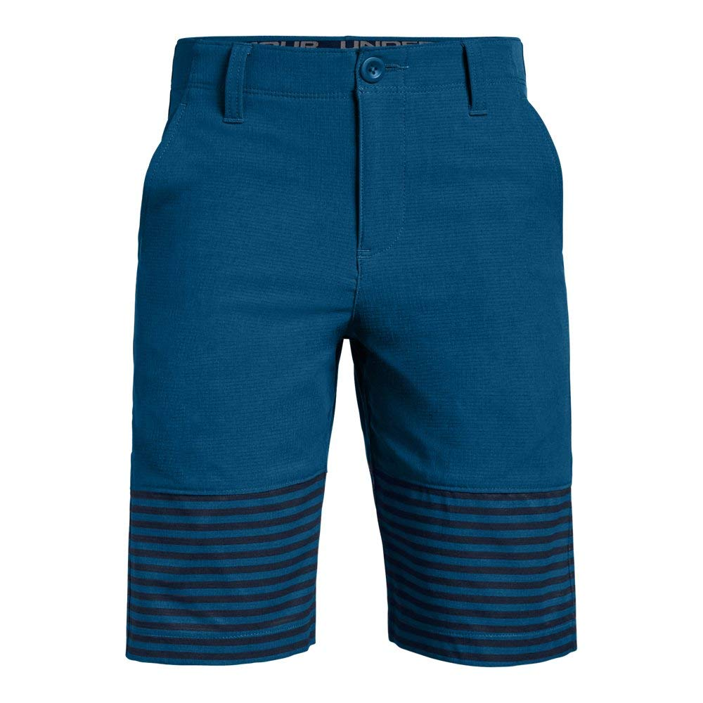 Under Armour Boys' Match Play Vented Shorts, Moroccan Blue (487)/Moroccan Blue, 12 by Under Armour