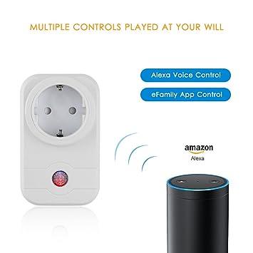 Wifi Smart Socket Echo de Amazon y control de aplicaciones SmartSwitch inalámbrico Socket Control de Smartphone