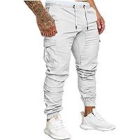 Socluer Hombre Pantalones de Carga Deportiva de Talla Grande Pantalones Largo con Bolsillos Pantalones Cinturón de…