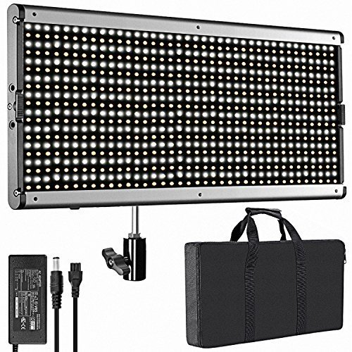 Neewer Dimmable Bi-color LED with U Bracket Professional Video Light for Studio, YouTube Outdoor Video Photography Lighting Kit, Durable Metal Frame, 960 LED Beads, 3200-5600K, CRI 95+ by Neewer