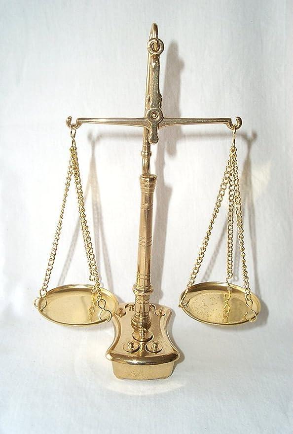 Triple-viga de equilibrio, Doble escala, Escamas doradas, Escala de nivel Latón pulido + Pesos: Amazon.es: Hogar