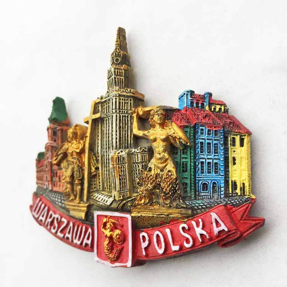 Imán para nevera, diseño de Polonia de Varsovia, decoración ...