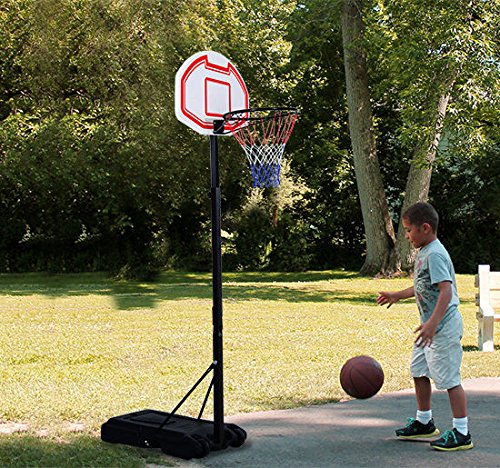 "Aosom 7' Height Adjustable Portable Basketball Hoop System with 29"" Heavy Duty Clear Backboard"