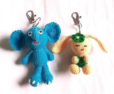 Crochet Elephant Keychain | Etsy | 382x466