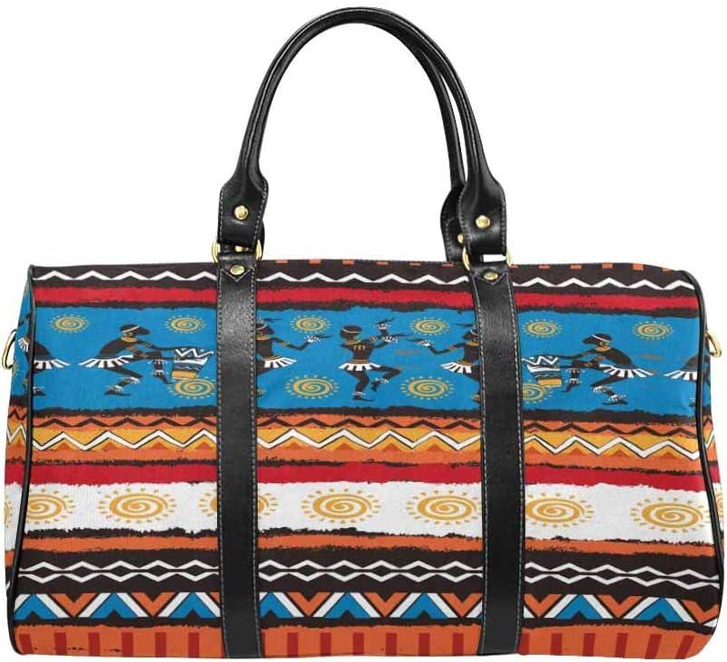 InterestPrint Carry-on Garment Bag Travel Bag Duffel Bag Weekend Bag Ethnic Ornament Set
