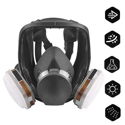 ACLBB Máscara Facial De Gas, Respirador De Vapor Orgánico con 4 Respiradores De Carbón Activado