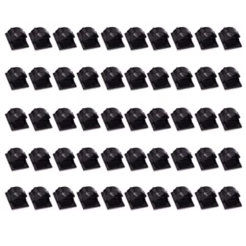 50 Stück selbstklebende Kabel Clips Tie Organizer Kabel-Drop Draht ...