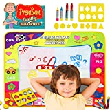 Doodle Mat Magic Mats Water Drawing Mat Pad Toddler Toys Kid Toys Gifts For 2 3 4 Year Old Girls Boys doodle With 4 Magic Pens And 8 Molds Large Size Educational Painting Board