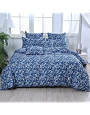 FADFAY Elegant and Shabby Floral Bedding Set Twin Full Queen King California King Duvet Cover Sets