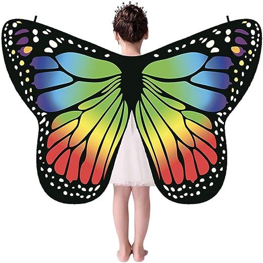 Forart - Alas de Mariposa para niños - Disfraz Infantil de alas de ...