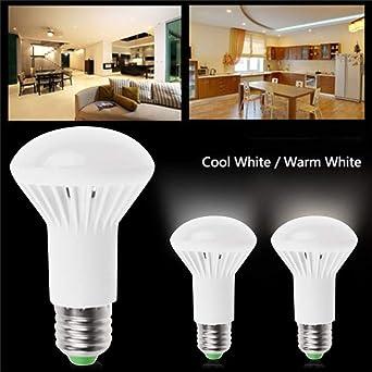 R63 lámpara LED E27 9 W AC 85 V-265 V bombillas Led cálido Blanco