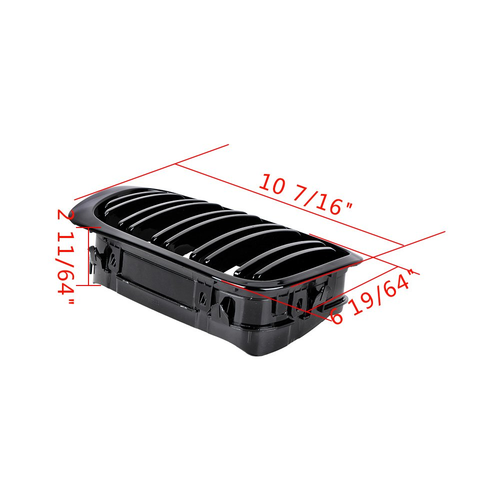 Glossy Black Front Sport Kidney Grille Grill for 2003-2006 E46 325Ci 330Ci 2-Door LCI