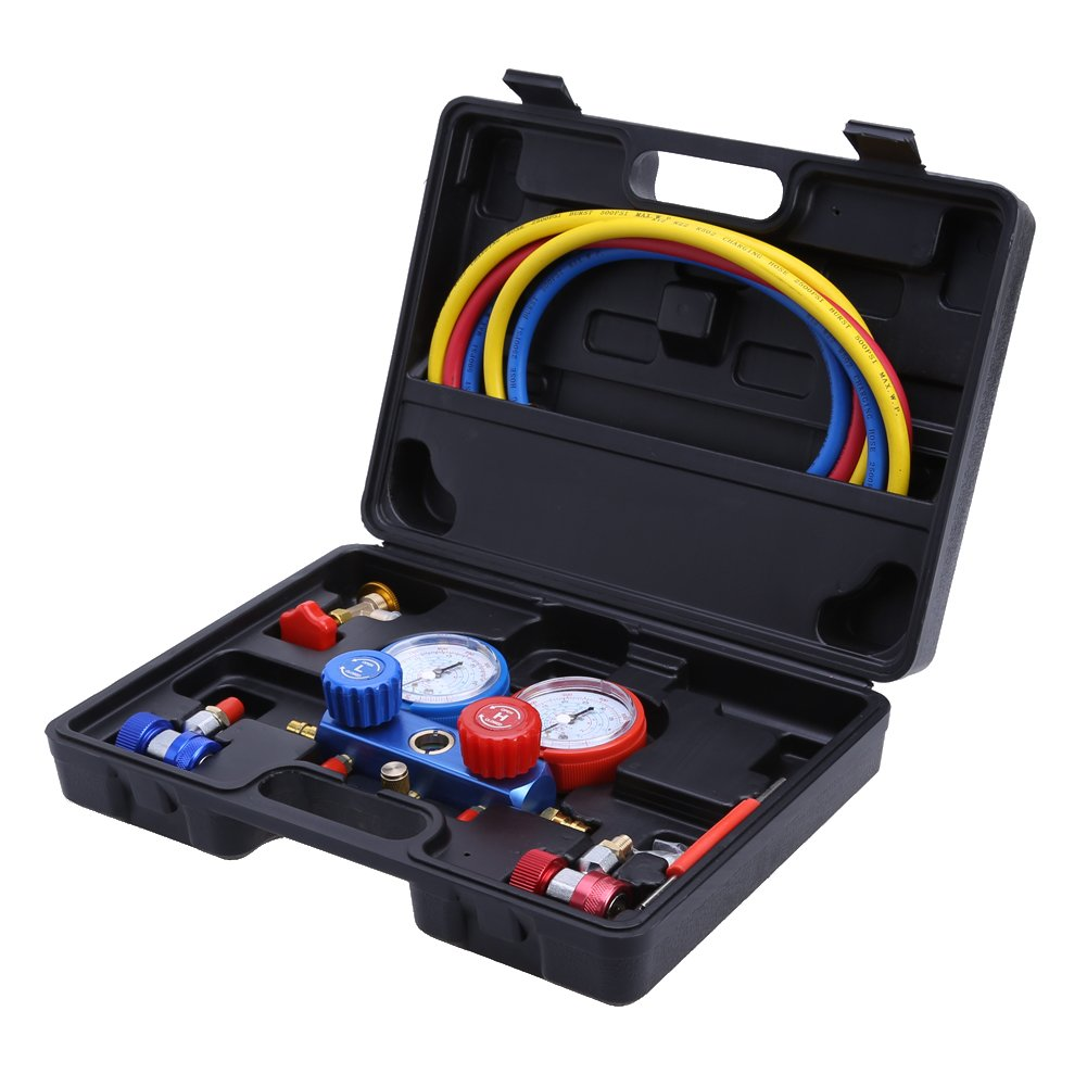 prettygood7 Air Conditioning AC Diagnostic A/C Manifold Gauge Tool Set Refrigeration R