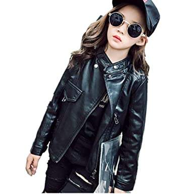 58dd50291 Image Unavailable. Image not available for. Color: Tronet Baby Boy Girls  Spring Autumn Coats Infant Toddler Kids Leather Jacket Outwear Outfits for 3