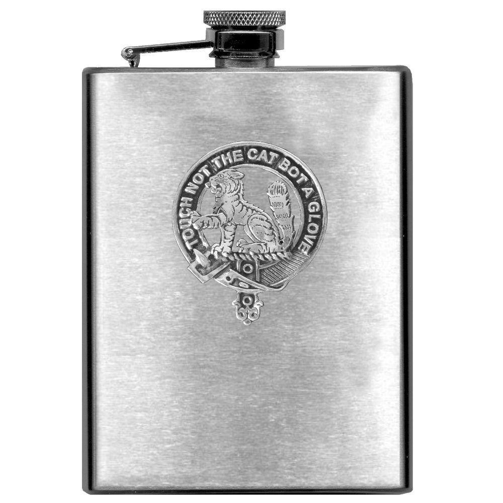 MacPherson Scottish Clan Stainless Steel 8oz Flask