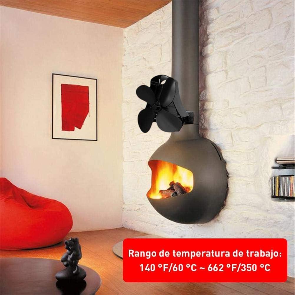 Faviye Ventilador para Chimenea de Pared 4 Ventilador magnético de ...