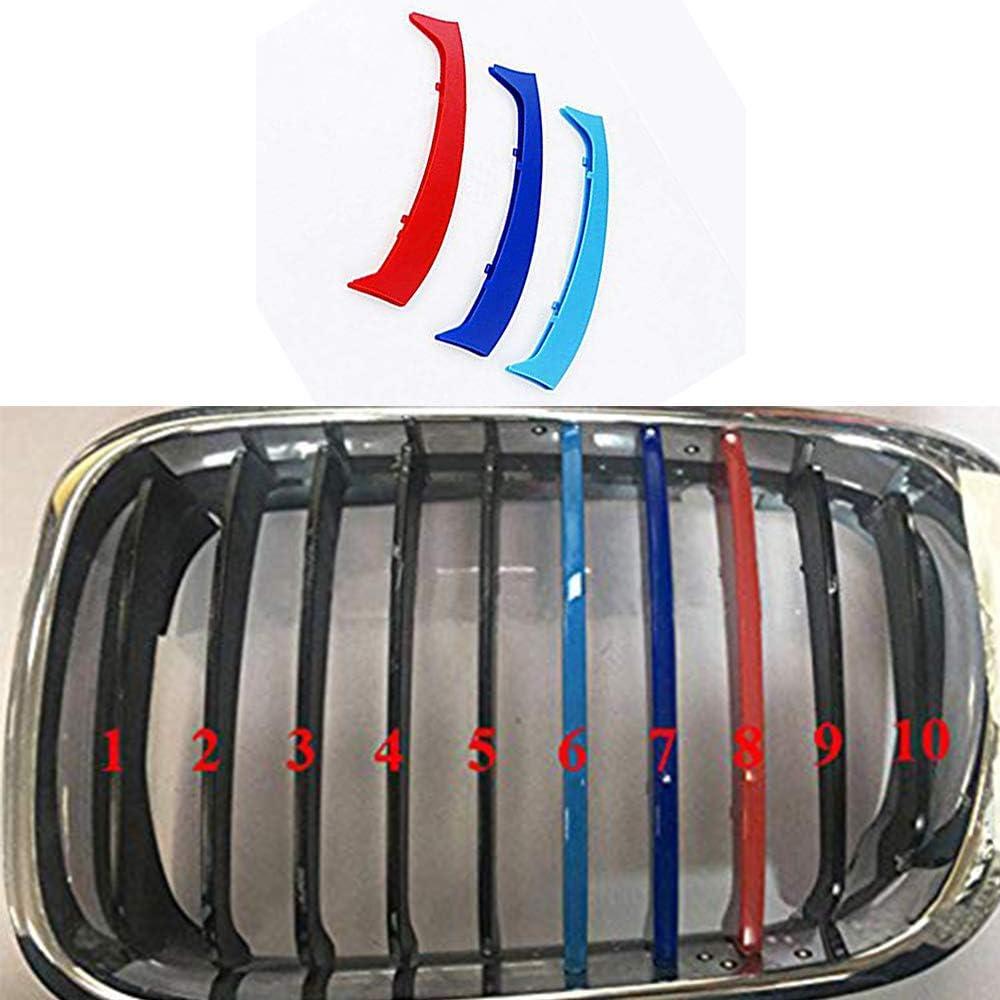 11 Grille 3D Calandres Avant Couverture D/écoration Autocollants Grill Trim Kidney Clip Couverture Pour B M W 3 Series F30 320i 325i 330i 335i 2013-2018