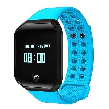 Kivors Fitness Tracker Reloj, z66 Bluetooth Pulsera Inteligente con Monitor de frecuencia Cardiaca Grande Protector de Deporte podómetro Reloj, ...