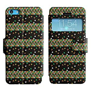 Pulsar Slim-Leather Series Funda para Apple iPhone 5C , Cute Triangle