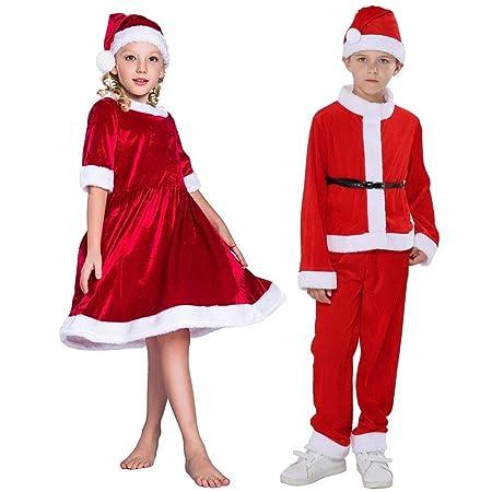LABAICAI Disfraces de Navidad Vestido de Las Muchachas Rojas ...
