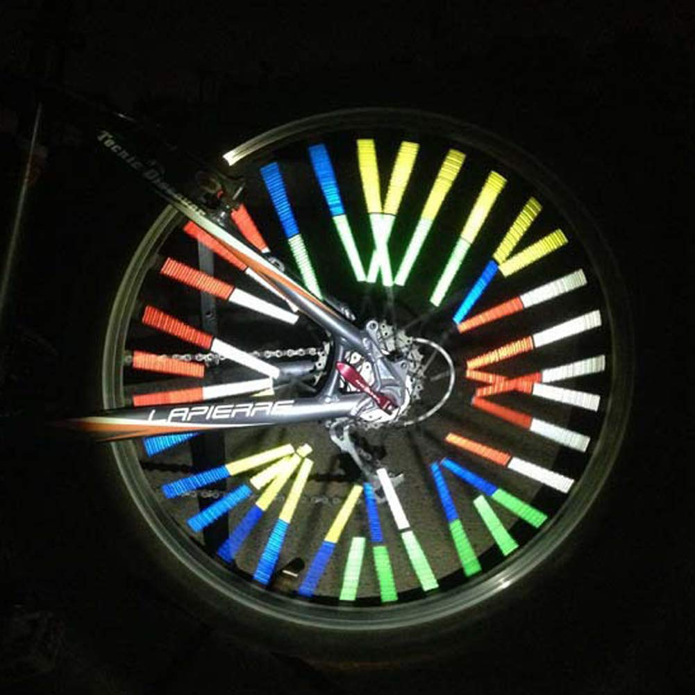 Flyes R/éflecteurs de Bicyclette R/éflecteurs de Clips r/éfl/échissants R/éflecteurs de Roues Rayons davertissement r/éfl/échissants
