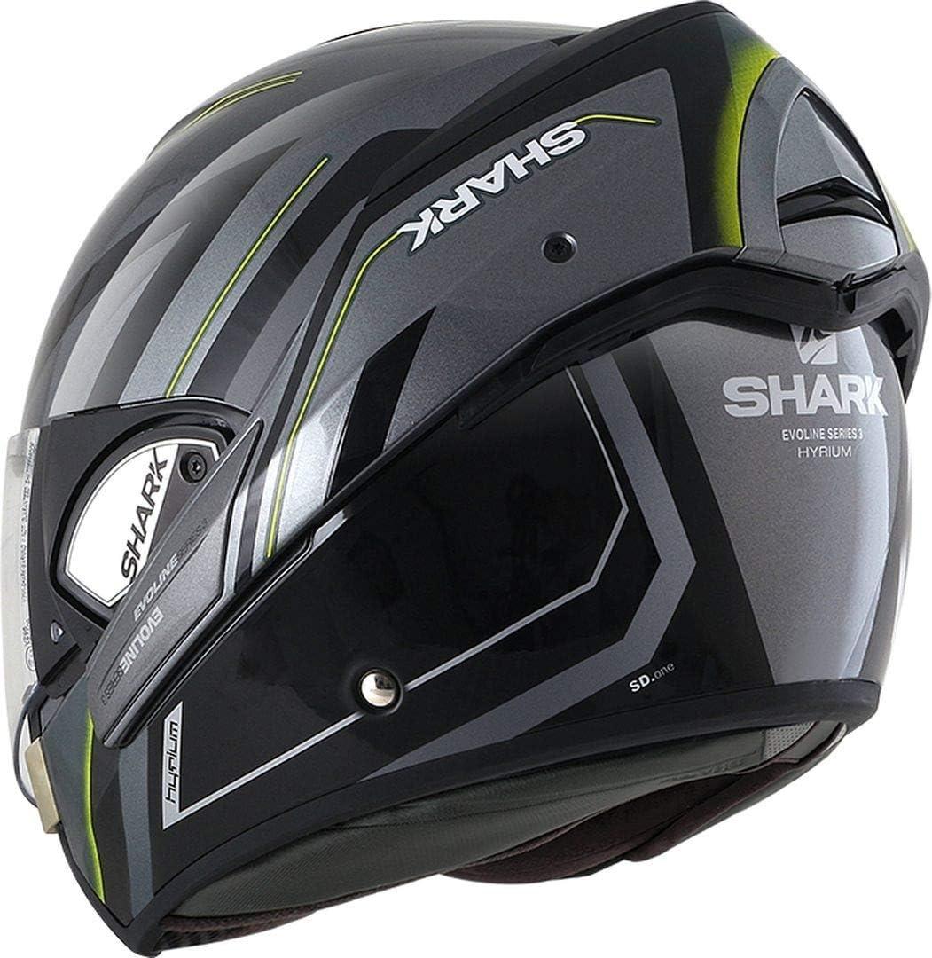Amazon.com: Shark - Cascos de moto EVOLINE 3 HYRIUM AKY - XL ...